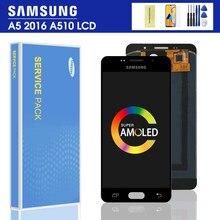 100% тест Оригинальный ЖК-дисплей для Samsung Galaxy A5 2016 A510F A510M A510FD A5100 A510 ЖК-дисплей сенсорный экран дигитайзер сборка
