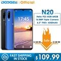 DOOGEE N20 мобильный телефон с отпечатком пальца 6 3 дюйма FHD + дисплей 16 МП Тройная задняя камера 64 ГБ 4 ГБ MT6763 Восьмиядерный 4350 мАч мобильный телеф...