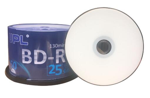 Free Shipping 6x BDR 25g Blu-ray Disc BD-R 25GB Blank Media 50pcs/lot