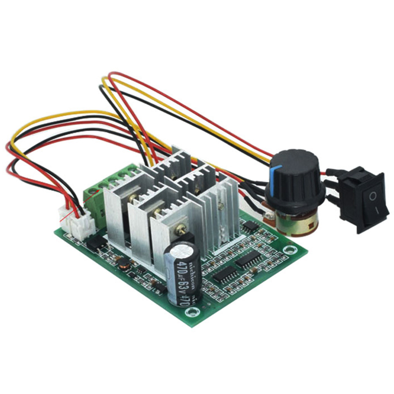 HTHL-BLDC Drei Phase Bürstenlosen Sensorlose Motor Controller BL01 15A Gewaltsamen Fan Modulation DC5V6V9V12V36V Vorwärts und Rückwärts