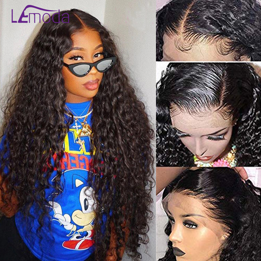 Water Wave Wig 13X4 Deep Part Brazilian Wigs Pre Plucked Natural Hairline Remy Hair Lace Front