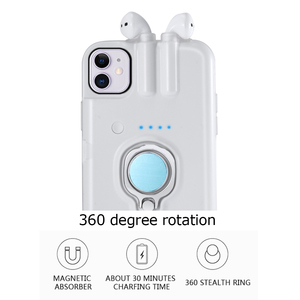 Image 3 - For iPhone 11 Pro Max Xs Max Xr X 8 7 6 6s Plus Case with AirPods 1 2 Charging Box Earphone Holder Dropshipping Fast delivery