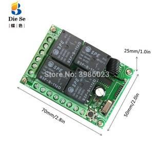 Image 4 - 433MHz Universal Wireless Fernbedienung Schalter DC 12V 4CH Relais Empfänger Modul RF 4 Taste Licht Tor Garage fernbedienung