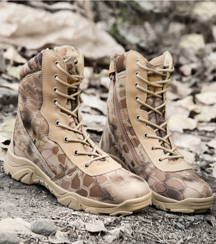 Men Camouflage Combat Ankle Boot Waterproof Leather Work Safety Hunting Casual Shoes Mens Tactical Military Army Boots Sneakers 3