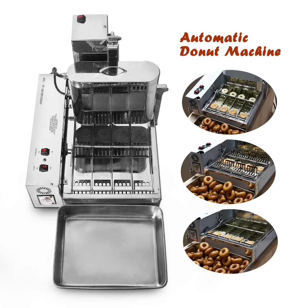 ITOP 2000W Commercial Doughnut Makers 4 Rows Donut Electric Frying Mini Doughnut Automatic Production Donut Making Machine 6L