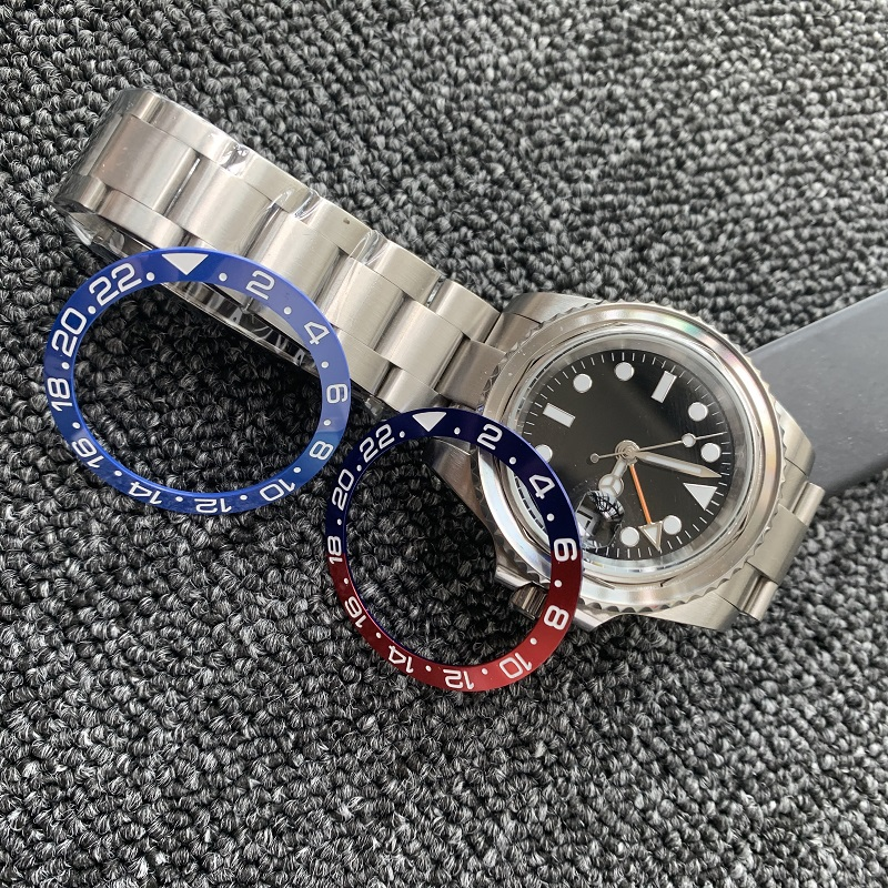38mm Watch Ring Ceramic Bezel Insert Ring for GMT Watch 40mm Casing Watch Accessories Inner diameter 30.8mm (Gift 2pcs tape)