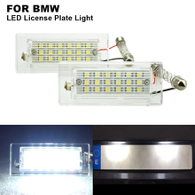 2x White LED Number License Plate Light Bulb Error Free Number Plate Lamp For BMW X5(E53 (99-06),X3(E83 (03-10) before facelift 2x auto light for 03 18 dodge ram 1500 2500 3500 smoke lens led number license plate light kit canbus error free car styling