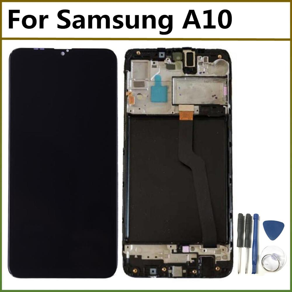 LCD Display For Samsung Galaxy A10 A105 A105F SM-A105F 2019 LCD Touch Screen Digitizer Assembly with frame For Samsung A10 image