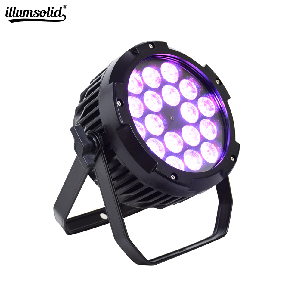 18x12W RGBW 4IN1 IP65 wasserdichte <font><b>led</b></font> <font><b>Par</b></font> Lichter DMX control bühne DJ equipment disco lichter image