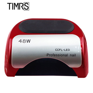 Светодиодный маникюрный УФ-светильник CCFL, 48 Вт, с умным датчиком и таймером, для сушки гель-лака