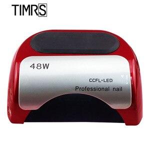 48 Вт CCFL светодиодный светильник для маникюра, Солнцезащитная лампа для ногтей, интеллектуальное определение времени, дизайн ледяной лампы, ...