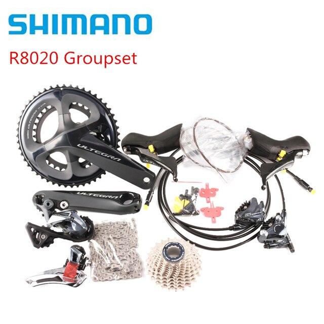 Shimano Ultegra R8020 2x11 מהירות הידראולי דיסק בלם Groupset לבנות ערכת Derailleurs כביש אופניים R8070