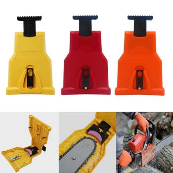 COLOR Chainsaw Teeth Sharpener Portable Sharpen Chain Saw Bar-Mount Fast Grinding Sharpening Chainsaw Chain Woodworking Tools