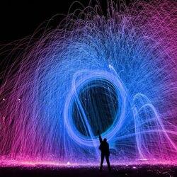 Juguete pirotécnico de lana de acero portátil para niños y adultos juguete pirotécnico para fiesta, llama, Swing, Sparks, Fairy Firework Stick