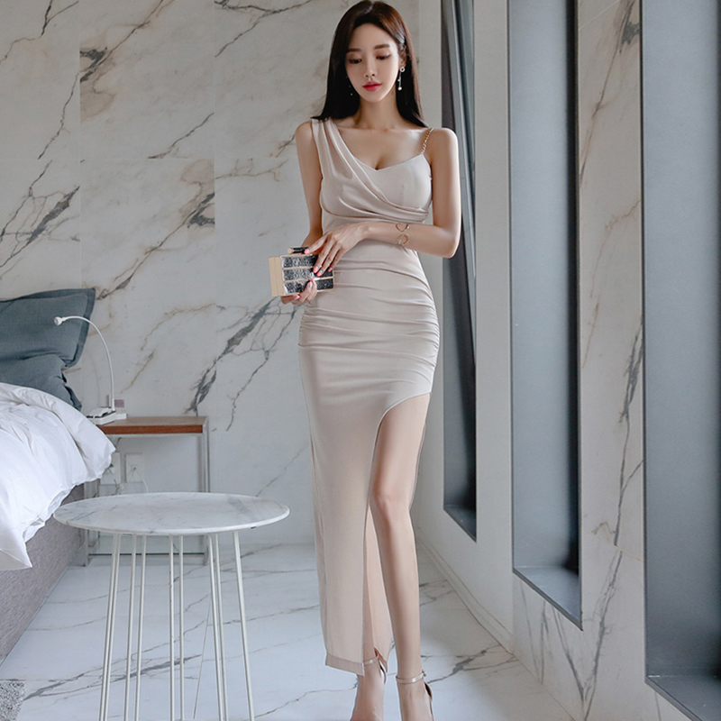 Fashion Elegant Women Comfortable High Quality Long Formal Dress New Arrival Casual Sexy Cute Party Sexy Asymmetrical Dress