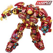 Super Heroes Avengers  Marvel Iron Man Hulkbuster War Machine Lepininglys Building Blocks Infinity War Children Kids Toys цена 2017