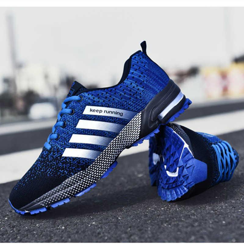 Nefes koşu ayakkabıları moda büyük boy spor ayakkabı 48 popüler gündelik erkek ayakkabısı 47 rahat kadın çift ayakkabı 46
