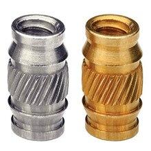 3000pcs ISB-M3/ISB-M4/ISB-M5/ISB-M6 Brass Knurled Thread Injection Molding Brass Knurled Inserts Nuts PEM Standard 100pcs m4 4 5 6 8 od 5 2mm m4 injection molding brass knurled thread inserts nuts