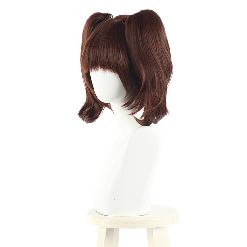 Image 2 - L email wig The Seven Deadly Sins Diane Cosplay Wigs Brown Double Ponytails Cosplay Wig Halloween Heat Resistant Synthetic Hair-in Synthetic None-Lace  Wigs from Hair Extensions & Wigs