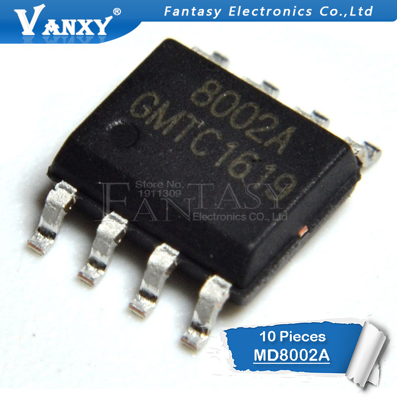 10PCS MD8002A SOP8 MD8002 SOP 8002A SMD SOP-8 8002 CKE8002B NS8002 New And  Original IC