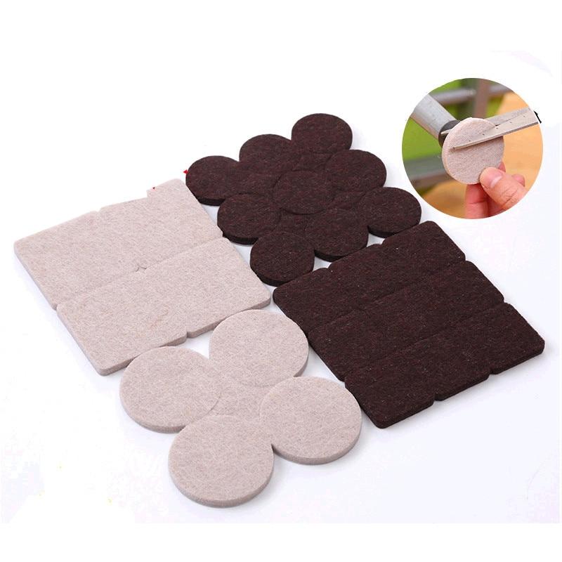 8pcs - 18pcs Self Adhesive Chair Feet Pads Furniture Leg Feet Anti Slip Mat Protection Pad  Accessories