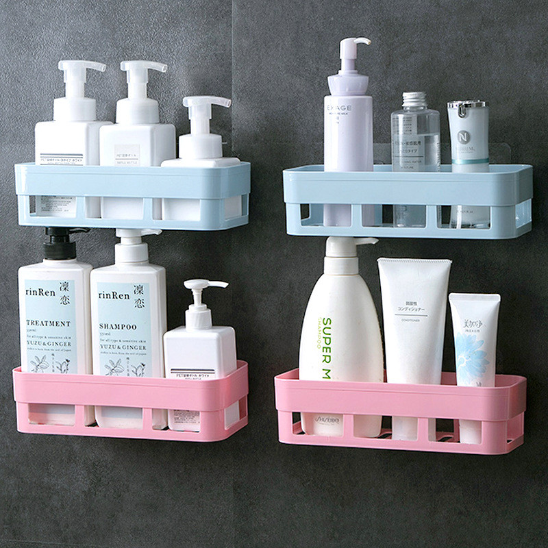 Bathroom Storage Shelf & Rack Waterproof Shower Shelf Organizer Home Decoration Kitchen Accessories Free Punching Wall Hanging