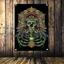 Heavy Metal Band Rock Music Poster Tattoo Banner Flag Wall Hanging Tapestry Canvas Painting Bedroom Bar Cafe Living Room Decor(China)