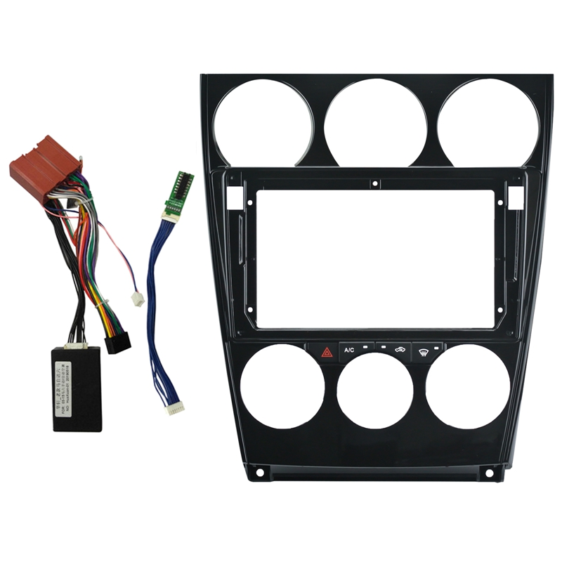 9 Inch 2Din Car Stereo <font><b>Radio</b></font> DVD Player Panel Audio Trim <font><b>Frame</b></font> with Wires Board Control CANBUS for <font><b>Mazda</b></font> <font><b>6</b></font> 2004-2016 image