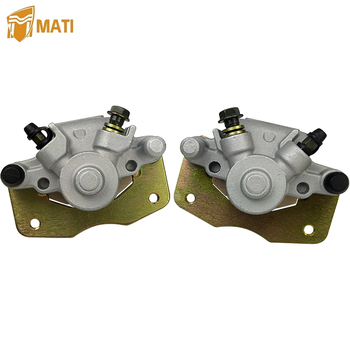цена на Mati Front Left Right Brake Caliper with Pads for Bombardier Outlander 330 400 Can-Am Outlander 800R Renegade 500 800 800R