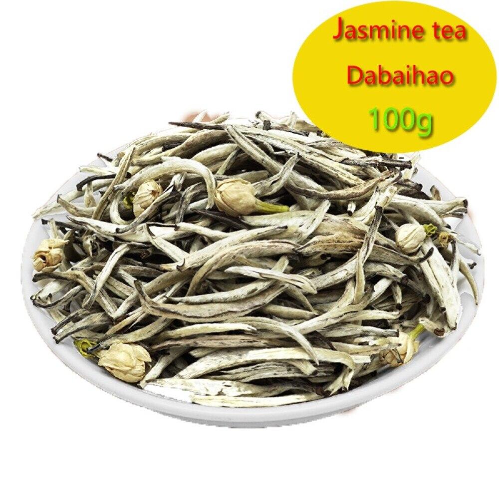 Jasmine tea 100g sealed pocket jasmine silver needle Jasmine big white aroma Jasmine White Silver Needle 100g 1