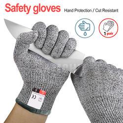 Высокопрочный Класс уровня 5 Защитная маска для лица, перчатки с защитой от порезов Кухня устойчивые к порезам перчатки для мясо рыбы резки