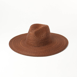Очень тонкая шляпа из натуральной соломы для отдыха для женщин, для путешествий, защита от солнца, УФ, джаз, Пляжные шапки 13 см, brme outdoor