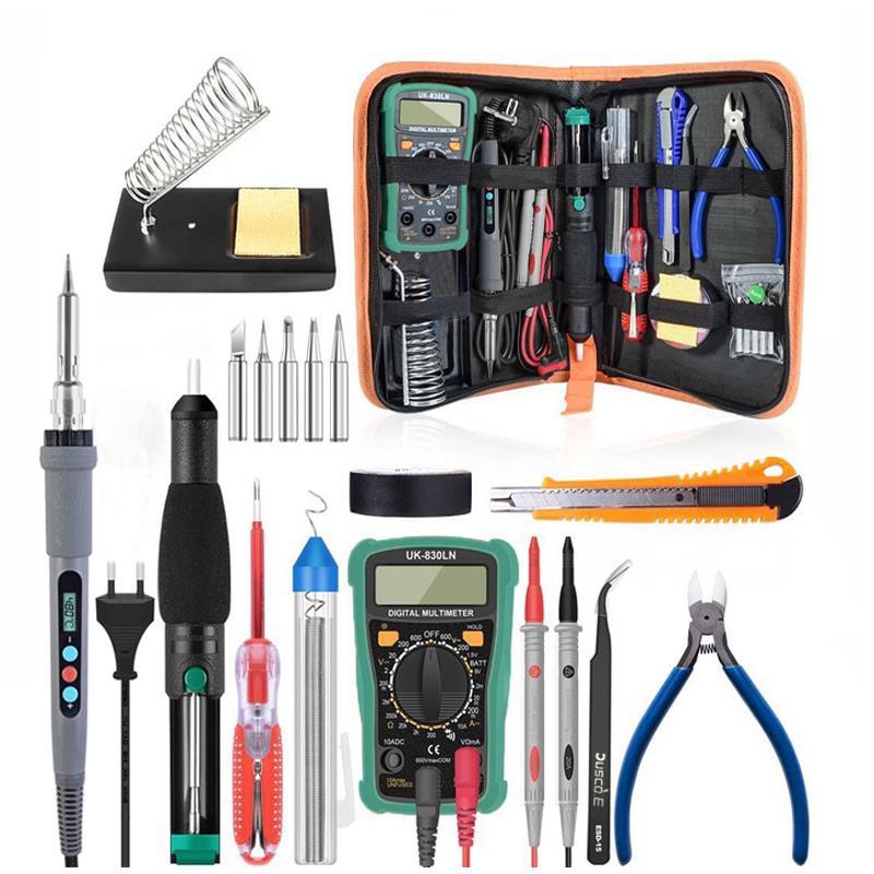 110V 60W Electric Soldering Iron Tool Kit Repairing Welding Desoldering Pump Set