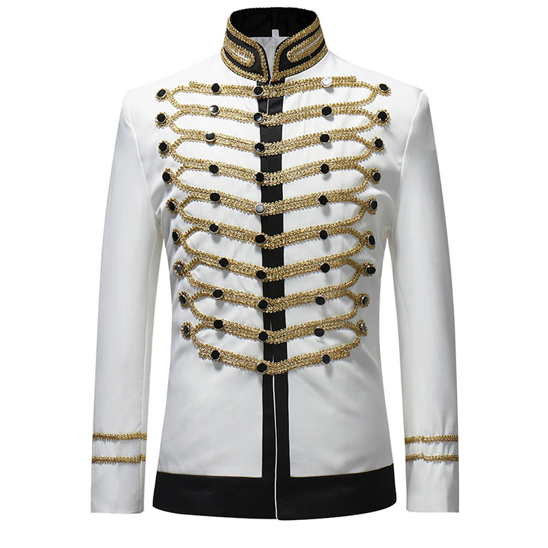 Shujin 2019 Male Single Breasted Suit Jacket Men Military Stage Suit Fashion Drama Costume Party Blazer Hommes Plus Size New