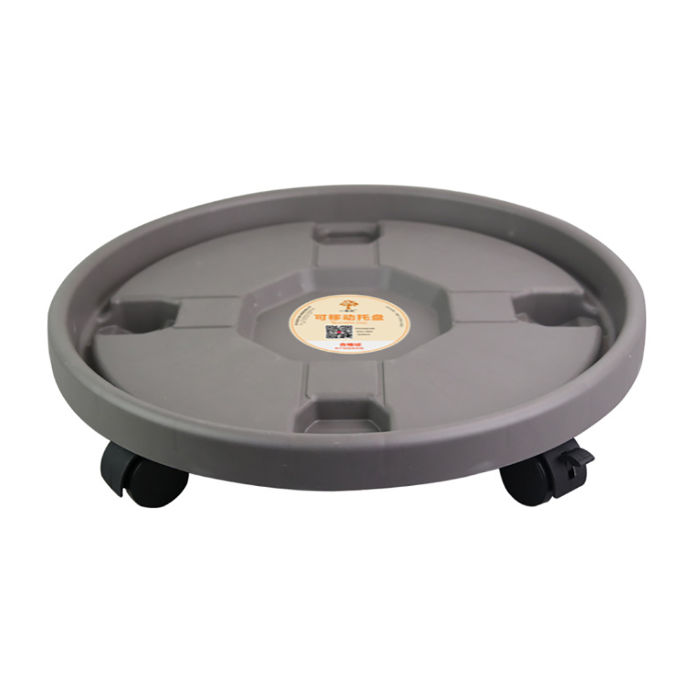 Flower Pot Moving Tray Plant Stand Movable Holder Garden Removable Plastic Vase With Rollers Round Portable Universal Wheels