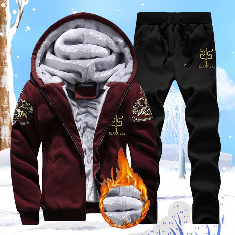 Trajes Para Hombre Con Pantalones Otono Invierno Tallas Grandes Chandal Calido Ropa Deportiva Hombre Correr Conjunto De Sudadera 4xl Jogger Hombre Sudaderas Abrigo Conjuntos Para Hombres Aliexpress