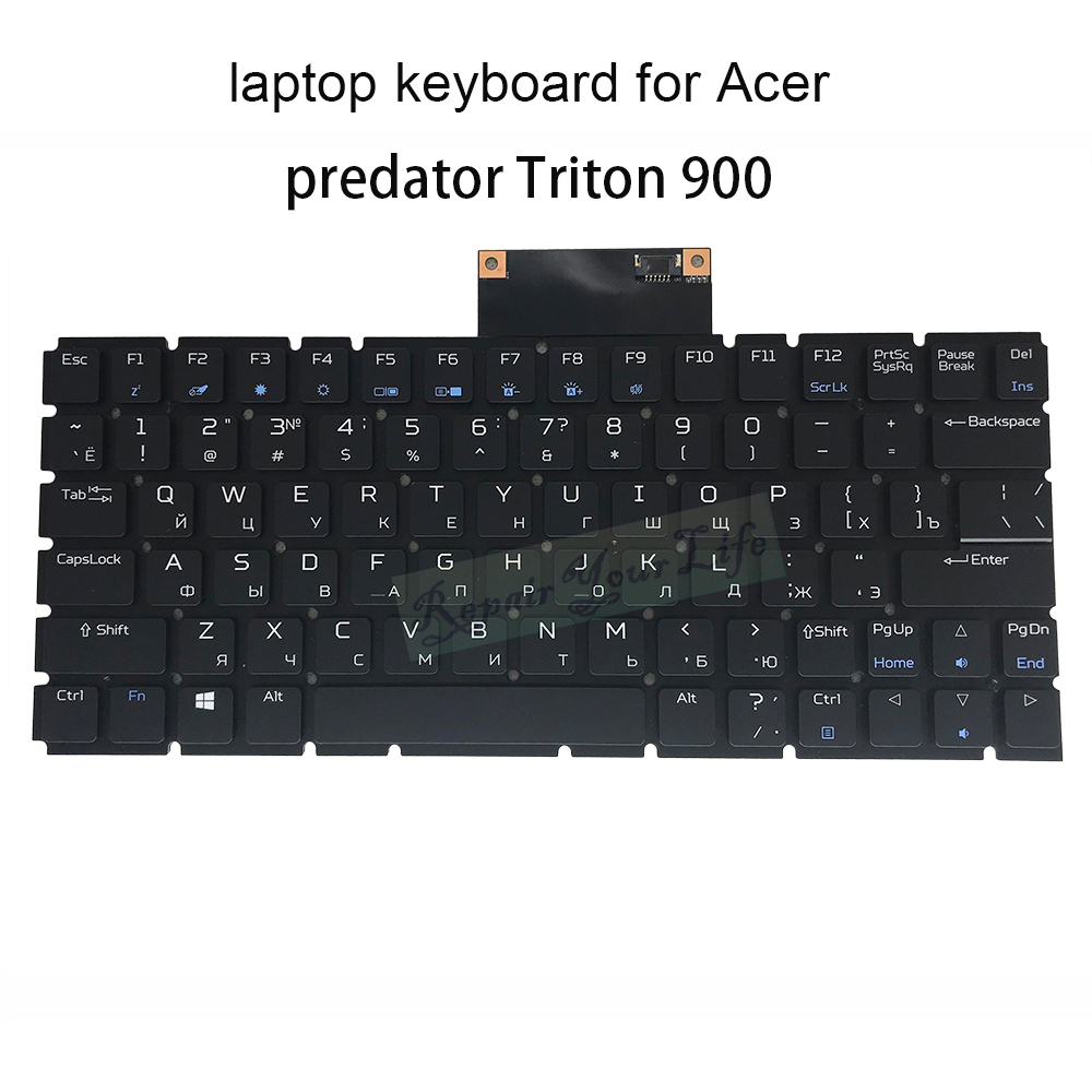 Replacement keyboards for Acer predator Triton 900 RU Russian black backlit keyboard light MS3P P71BRL original Thenewlisting