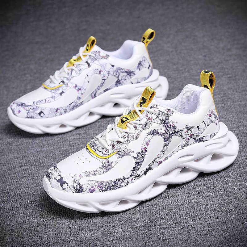 Chaussures de sport pour hommes et femmes, baskets de course respirantes, résistantes à la tendance, de haute qualité, chaussures d'extérieur antidérapantes pour hommes et femmes