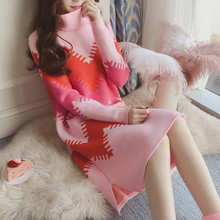 Warm Knitted Maternity Nursing Sweaters Dress Autumn Winter 2019 Fashion Feeding Clothes for Pregnant Women Pregnancy(China)