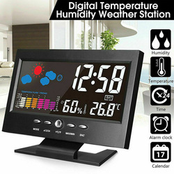 Intelligent Digital Clock Weather Station Display Alarm Calendar Clock Function Thermometer Wireless Temperature Humidity Meter