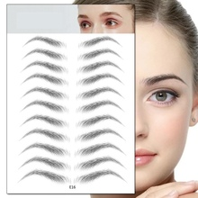 4D Hair-like Authentic Eyebrows Imitation Ecological Lazy Natural Tattoo Eyebrow Stickers Waterproof
