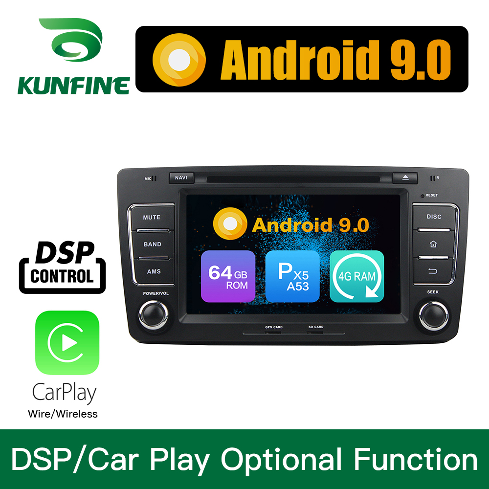 <font><b>Android</b></font> 9.0 Octa Core <font><b>4GB</b></font> <font><b>RAM</b></font> 64GB ROM <font><b>Car</b></font> DVD GPS Navigation Multimedia Player <font><b>Car</b></font> Stereo for Skoda Octavia 2012 headunit <font><b>Radio</b></font> image