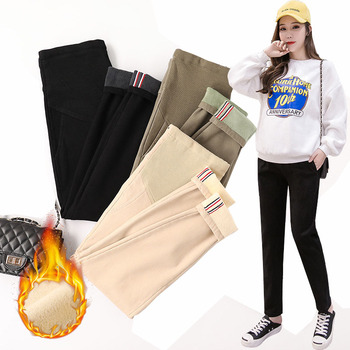 Winter Warm Velvet Loose Maternity Pants For Pregnant Women Thicken Trousers Pregnancy Leggings Causal Abdominal Haren Pants Buy At The Price Of 19 66 In Aliexpress Com Imall Com