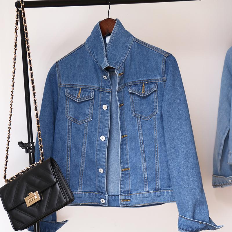 Jeans Jacket and Coats for Women 2019 Autumn Candy Color Casual Short Denim Jacket Chaqueta Mujer Casaco Jaqueta Feminina (12)