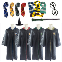 Potter Cosplay Costumes Magic Cloak Potter Robe With Tie Sca