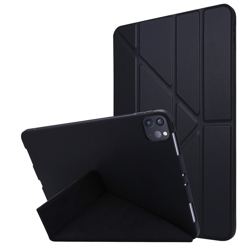 Black Red For 2020 iPad Pro 11 inch Case PU Leather Soft Silicone Back Magnetic Smart Cover for