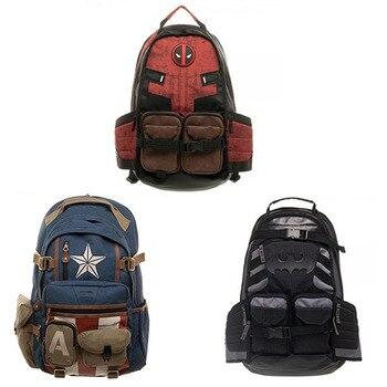 Marvels New Deadpool School Bag Avengers Batman Backpack Bags For Men