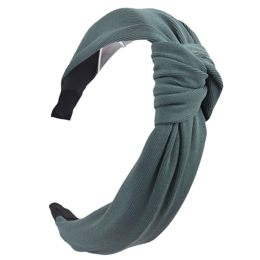 Couleur unie noeud bandeaux pour femmes Simple tissu filles bandeau femmes cheveux accessoires large côté bandeau 15
