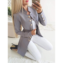 Elegant Women Trench Autumn Winter Single Breasted Coat Female Casual