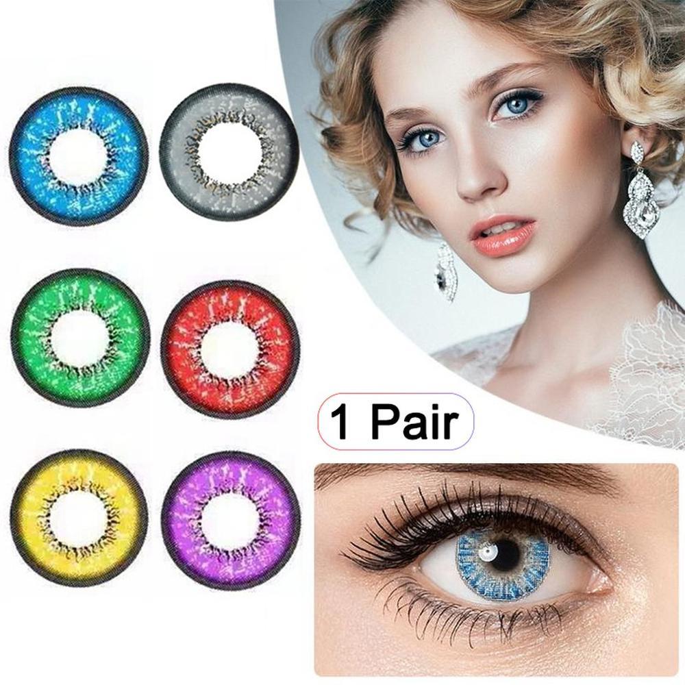 1 Pair Charming Eyes Unisex Coloured Circle Big Eye Beauty Contact Lenses Cosmetic Beauty Tool Contact Lenses Eye Wear